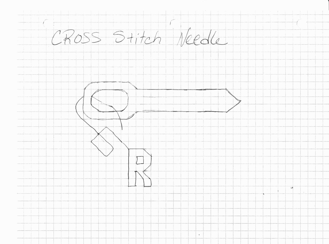 Needle Cross Stitch Pattern