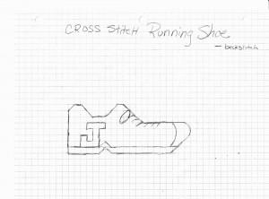 Running Shoe Cross Stitch Pattern
