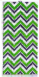 chevron cross stitch iphone horizontal