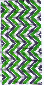 vertical chevron cross stitch