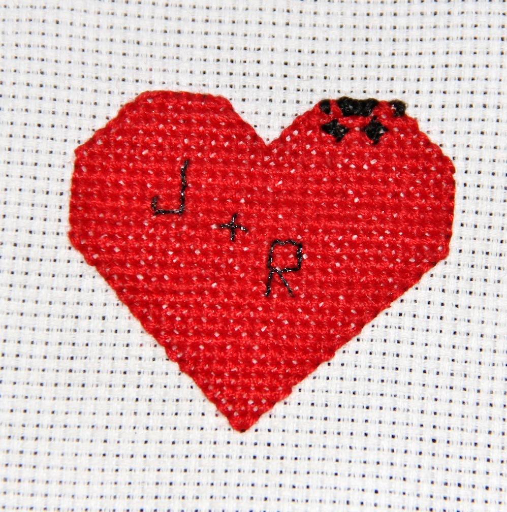 Cross Stitch Drawings Cross Stitch Heart