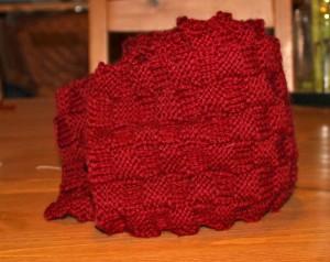 basket weave scarf