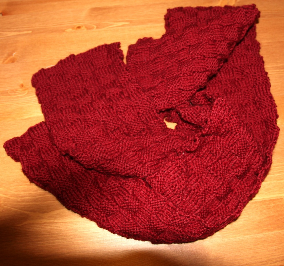 Knitting Basket Weave Stitch Scarf : Basket Weave Scarf - Needles and Know How