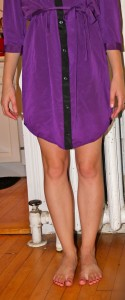 shorten a shirt dress