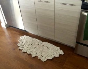 knit kitchen mat